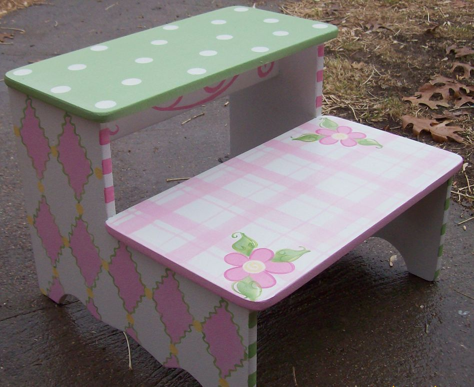 Childrens Hand Painted Furniture Stepstools For Children