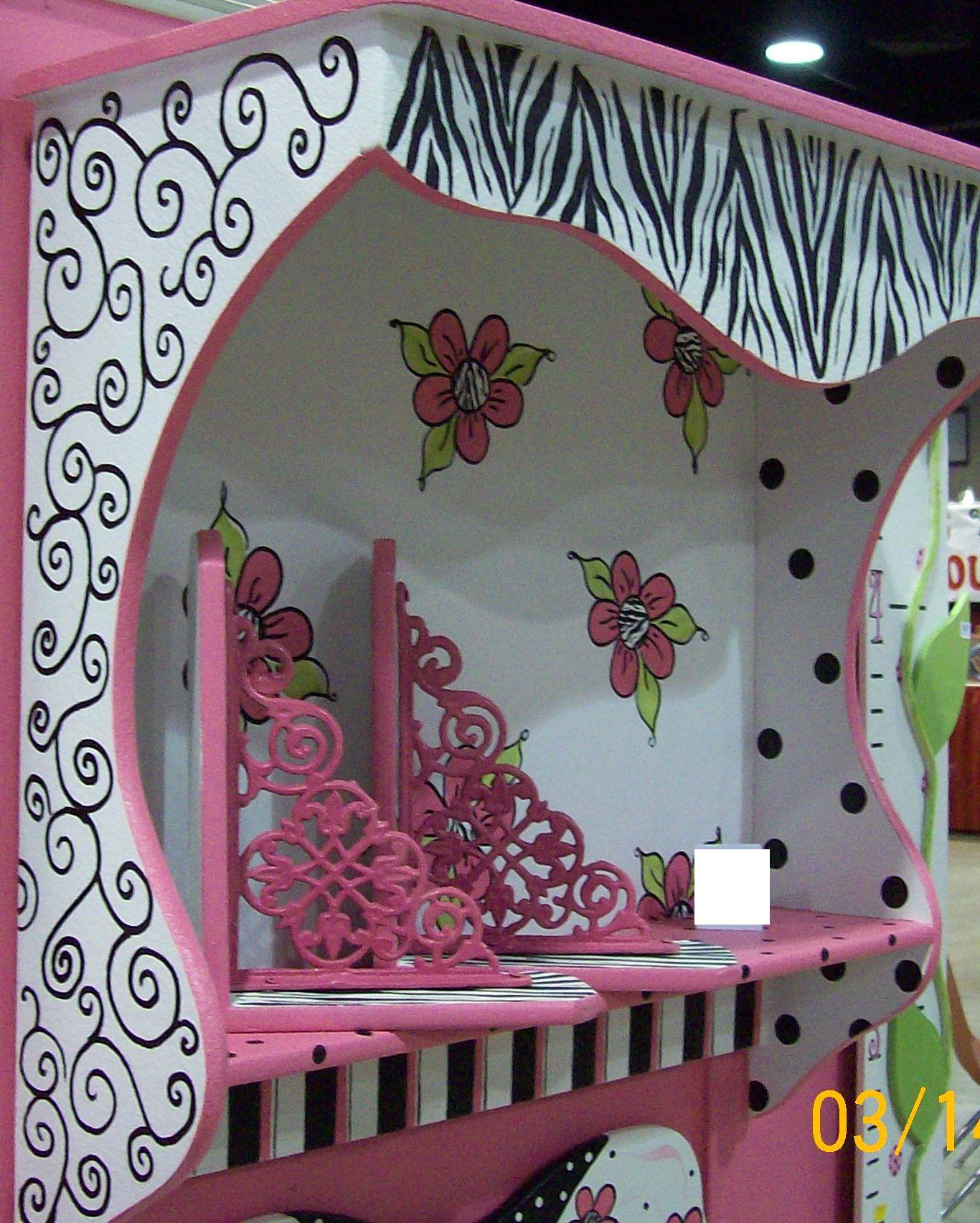 Pre teen and Tween zebra room decor ZEBRA HOT PINK DECOR